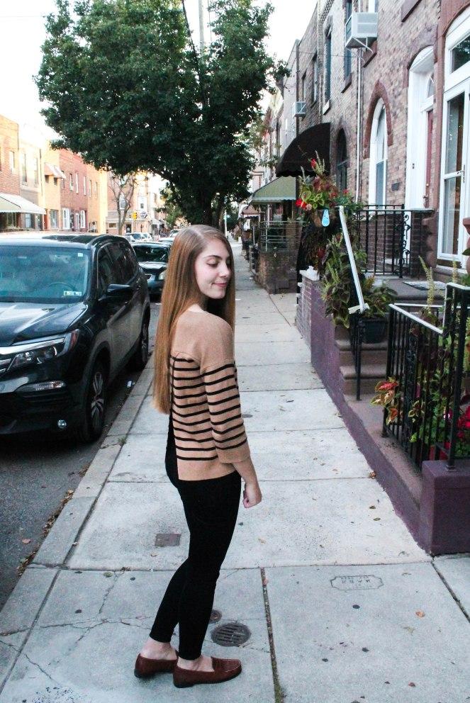 camel striped sweater-2