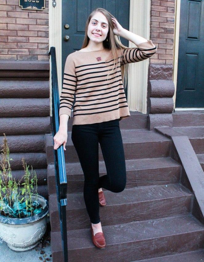 camel striped sweater-4