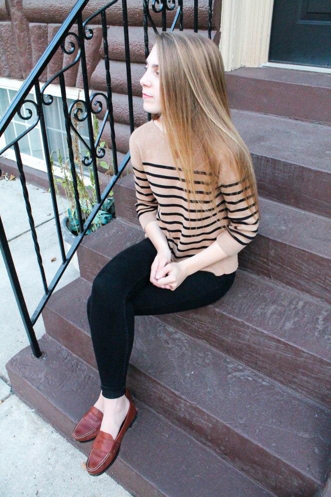 camel striped sweater-6