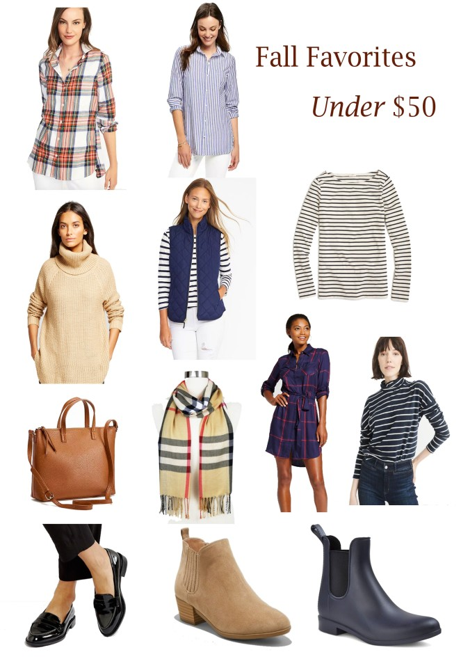 Fall Favorites under $50 2017