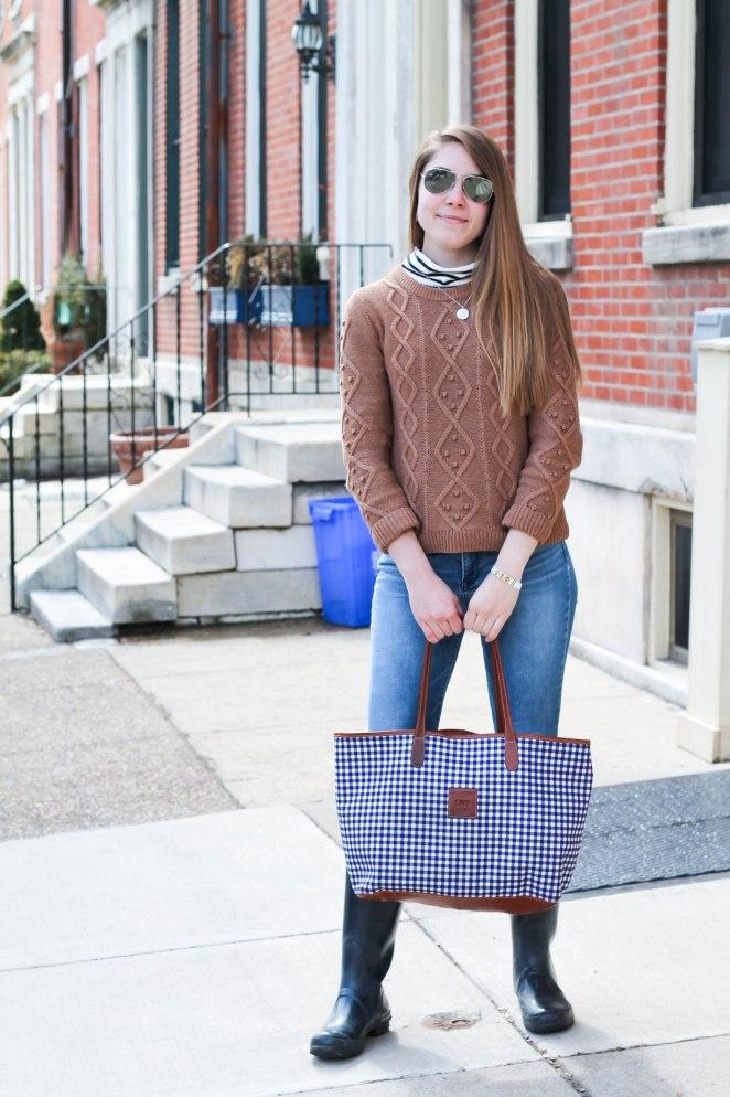 striped turtleneck sweater-2