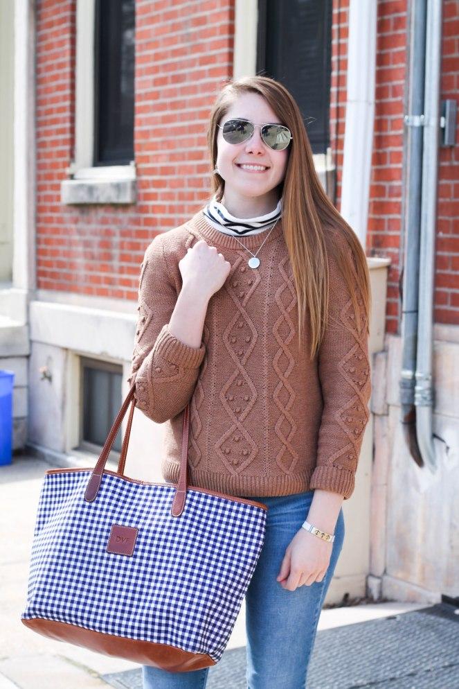 striped turtleneck sweater-5